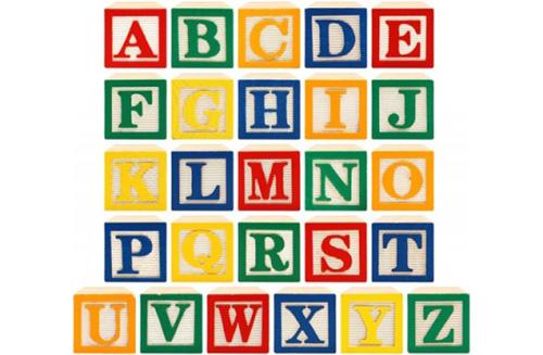 P119 alphabet blocks